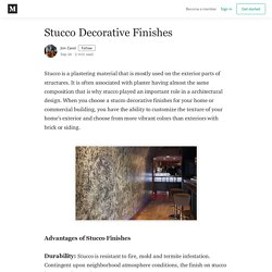 Stucco Decorative Finishes