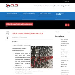 Buy Good Quality Of China Stucco Netting Manufacturer - FHM