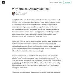 Why Student Agency Matters - David Price - Medium