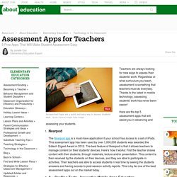 Top 5 Student Assessment Apps for Teachers