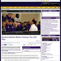 Student-Athlete Media Training: The LSU Way
