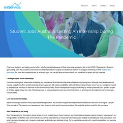 Find Needed Student Jobs Australia with miService Apps
