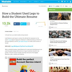 How a Student Used Lego to Build the Ultimate Resume