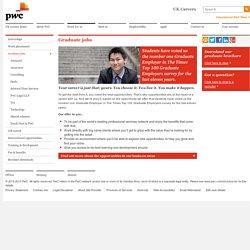 Graduate jobs at PWC