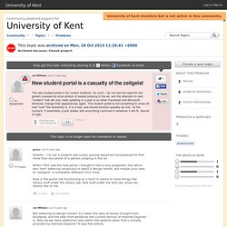 New student portal is a casualty of the zeitgeist