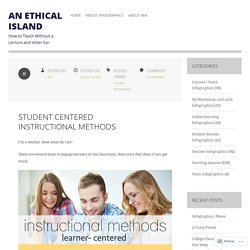 Student Centered Instructional Methods