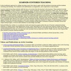 Student-Centered Teaching