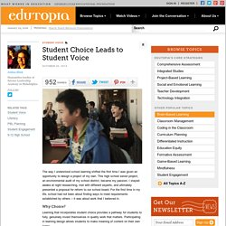 Student Choice Leads to Student Voice