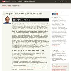 Easing the Pain of Student Collaboration