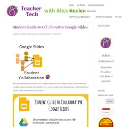 Student Guide to Collaborative Google Slides - Teacher Tech