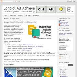 Control Alt Achieve: Google Slides for Student Created Storybooks