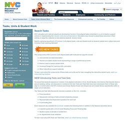 Tasks, Units & Student Work - Common Core Library