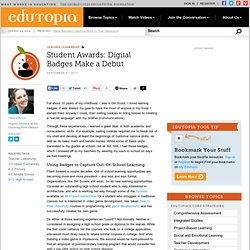 Student Awards: Digital Badges Make a Debut