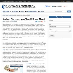 Student Discounts You Should Know About