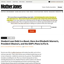 Student Loan Debt Is a Beast. Here Are Elizabeth Warren's, President Obama's, and the GOP's Plans to Fix It.