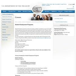 Student Employment Programs