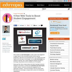 4 Free Web Tools to Boost Student Engagement