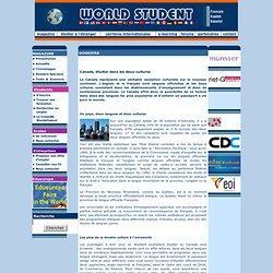 WORLD STUDENT - Canada, étudier dans les deux cultures