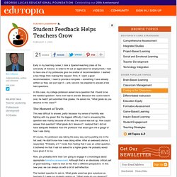 Student Feedback Helps Teachers Grow