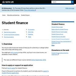 Student loans : Directgov