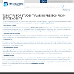 Top 5 Tips for Student Flats in Preston from Estate Agents