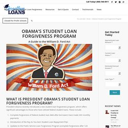 Obama's Student Loan Forgiveness Program