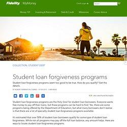 Student loan forgiveness programs
