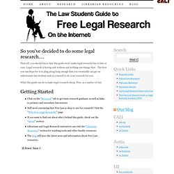 Law Student Guide to Free Legal Research