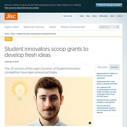 Student innovators scoop grants to develop fresh ideas