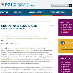 Student Voice And Choice In Language Learning