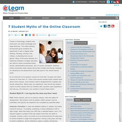 7 Student Myths of the Online Classroom