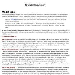 Student News Daily » Media Bias » Print