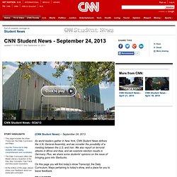 Student News - September 24, 2013