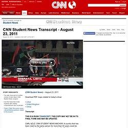 Student News Transcript - August 23, 2011