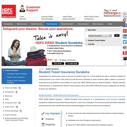 Student Overseas Travel Insurance Plan - HDFC Ergo