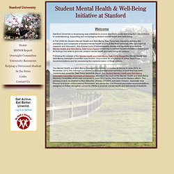 Student Mental Health and Well-Being Oversight Committee