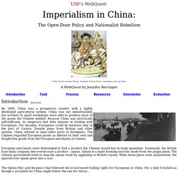 Role Play differing perspectives Imperialism China