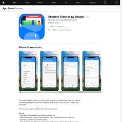 Student Planner by Studyr on the AppStore