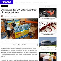 Student builds €10 3D printer from old inkjet printers