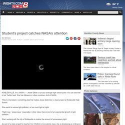 Student's project catches NASA's attention