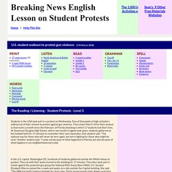 ESL Lesson Plan on Student Protests - Breaking News English Lesson