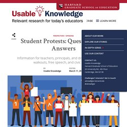 Student Protests: Questions and Answers