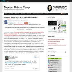 Student Reflection with Digital Portfolios