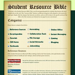 Student Resource Bible