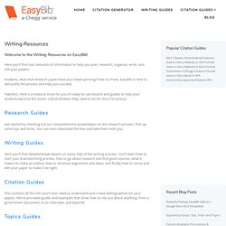 Student Resources - EasyBib Blog