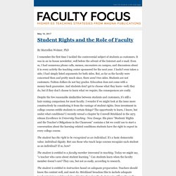 Student Rights and the Role of Faculty