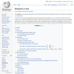 Wikipedia: Student's t-test