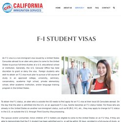 Student Visa Services Manteca California