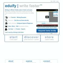 Eduify gives every student the services to write better, research faster and get help on-demand.