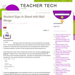Student Sign in Sheet with Mail Merge